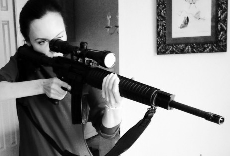 Practicing with M15 Rifle– you'd better be my friend- lol