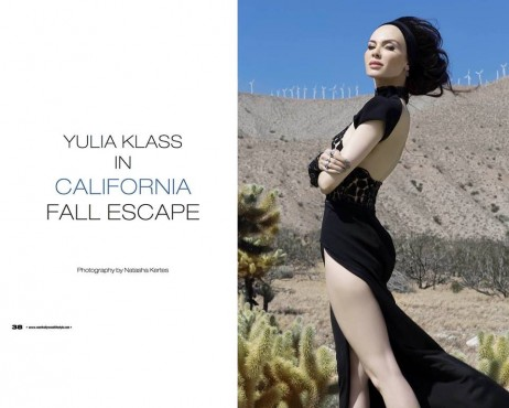 Yulia Klass in California Fall Escape