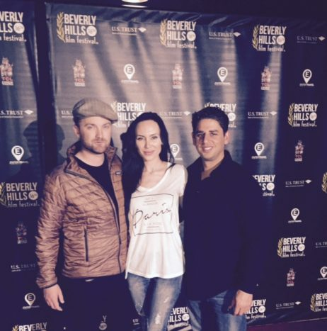 At the Beverly Hills Film festival( director- Richard Gray, Director of Photography Johnny Garrett, Yulia Klass) with Cold War as Official Selection